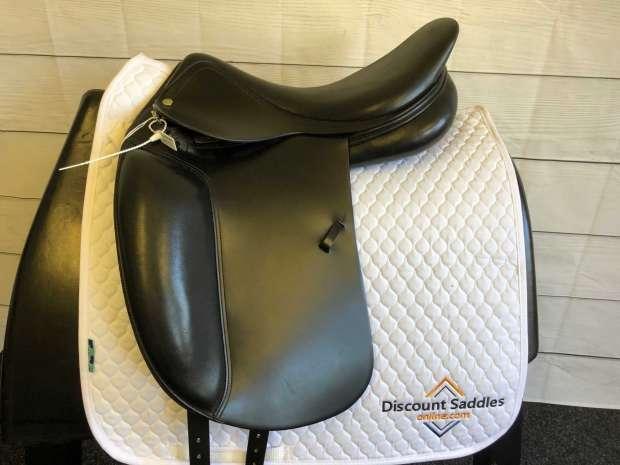 Amerigo Alto Dressage Saddle 17.5 +2 Black Discount Saddles Online